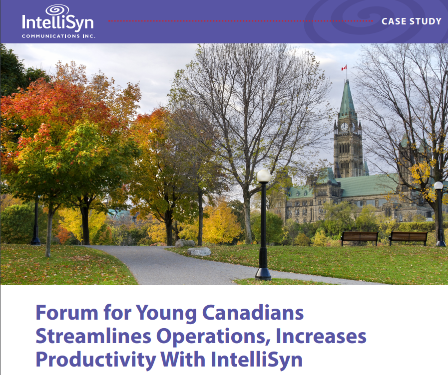 Forum for Young Canadians Streamlines Operations, Increases Productivity With IntelliSyn